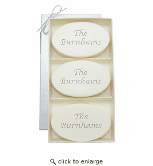 SIGNATURE SPA VERBENA TRIO: THREE BARS PERSONALIZED