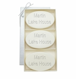 SIGNATURE SPA VERBENA TRIO: THREE BARS PERSONALIZED LAKE HOUSE