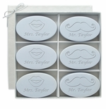 SIGNATURE SPA WILD BLUE LUPIN INSPIRE: SIX BARS PERSONALIZED LIPS AND MUSTACHE
