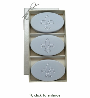 SIGNATURE SPA WILD BLUE LUPIN TRIO: THREE BARS FLEUR DE LIS