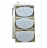 SIGNATURE SPA WILD BLUE LUPIN TRIO: THREE BARS PERSONALIZED INITIAL & INITIAL