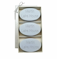 SIGNATURE SPA WILD BLUE LUPIN TRIO: THREE BARS PERSONALIZED LAKE HOUSE