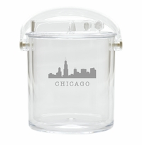 SKYLINE ICE BUCKET WITH TONGS