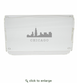 SKYLINE SERVING TRAY WITH HANDLES