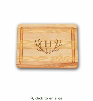 SMALL MASTER COLLECTION BOARD PERSONALIZED ANTLER MOTIF