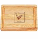 "MASTER COLLECTION: 10"" x 7.5"" SMALL BOARD PERSONALIZED ROOSTER"