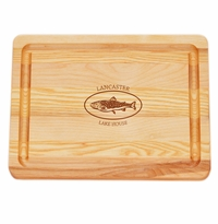 """MASTER COLLECTION: 10"""" x 7.5"""" SMALL BOARD PERSONALIZED TROUT LAKE HOUSE"""