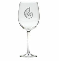 SPIRAL SHELL WINE STEMWARE - SET OF 4 (GLASS)