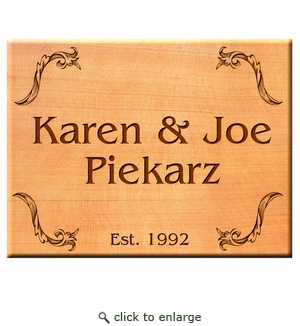 Square 11x11 Personalized Western Red Cedar Sign