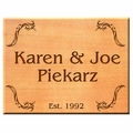 Square 8x8 Personalized Western Red Cedar Sign