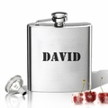Stainless Steel Hip Flask (8 oz) Personalized to your desire.   Military Name