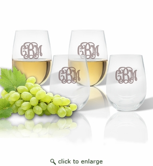 Stemless Wine Tumbler (Set of 4) (Tritan Unbreakable )