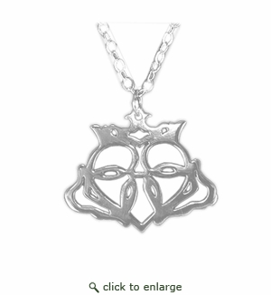 STERLING SILVER CLADDAGH PENDANT: 16 Inch Chain