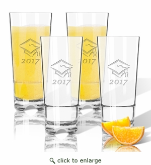 Tritan High Ball Glasses 16 oz (Set of 4): Graduation 2017