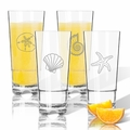 Tritan High Ball Glasses 16 oz (Set of 4) : Shells Collection