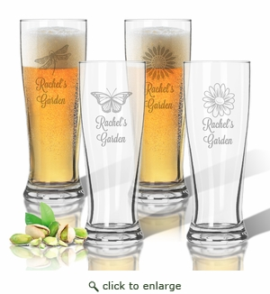 Tritan Pilsner 14 oz (Set of 4): Garden w Names
