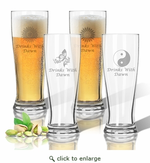 Tritan Pilsner 14 oz (Set of 4): Solstice  with Name