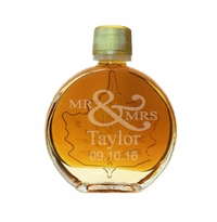 Certified Organic Mr & Mrs Vermont Maple Syrup Medallion Glass (50 ml) Case of 24 ($4.95/each bottle)