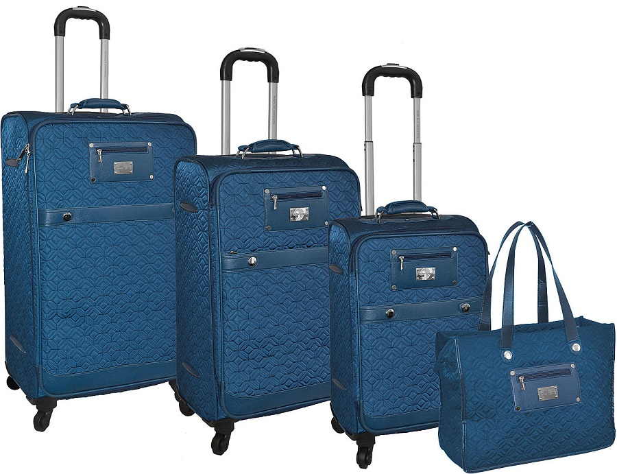 Adrienne Vittadini Quilted 4-Piece Lightweight Luggage Set : it quilted luggage - Adamdwight.com