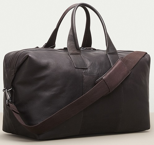 Kenneth Cole Brown Leather Duffle Bag