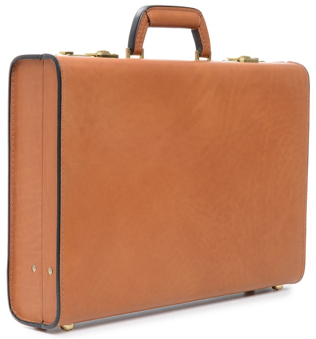 Korchmar Monroe 4 Quot Leather Attache Korchmar