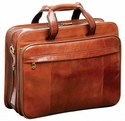 Mancini Signature Double Compartment Laptop Briefcase