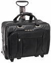 "McKlein S Series West Town 15.6"" Leather Checkpoint-Friendly Detachable-Wheeled Laptop Case"