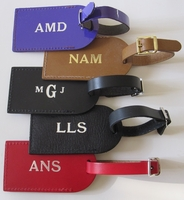 Free Monogrammed Leather Luggage Tag Included