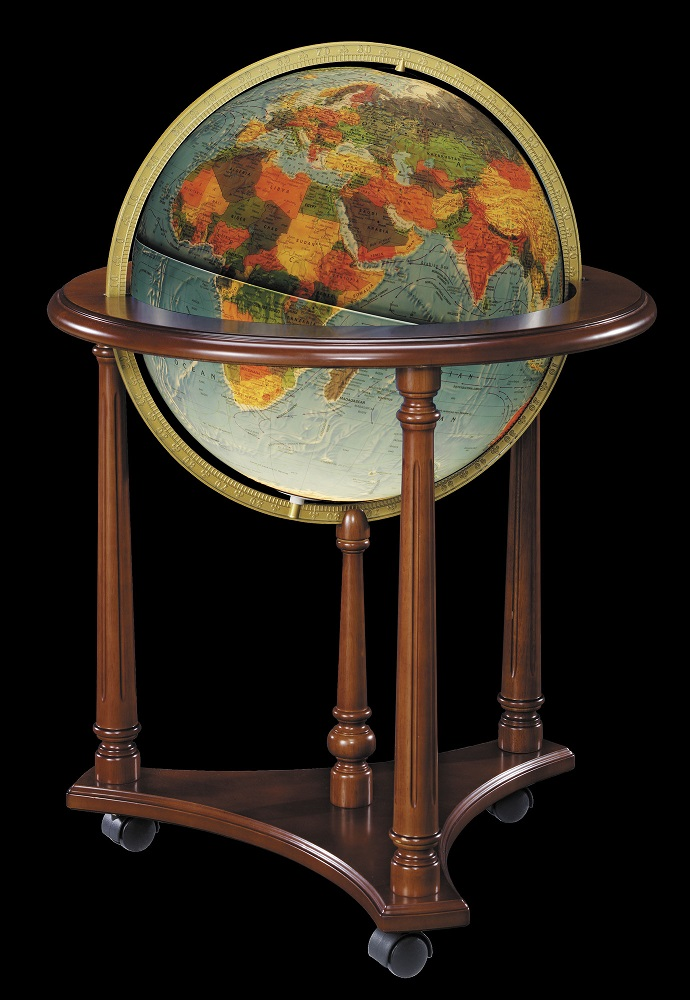 Replogle Lafayette Illuminated Blue Ocean Floor Globe