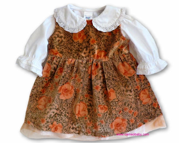 April Cornell Girls - Holiday 2PC Dress - Size NB- 6