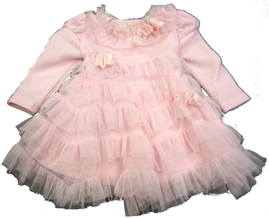 Baby Biscotti *Fairy Dust* Tiered Dress