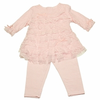 Baby Biscotti  Pink Ruffled Lace Tunic and Legging Set - sold-out
