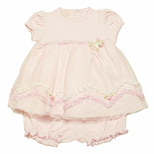 Baby Biscotti -* Sweet Chantilly* Dress & Bloomer  - Matching Bottie and Hat available!