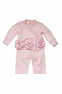 Baby Biscotti Baby-Girl's Couture Cutie Long Sleeve Top & Pant in  Pink