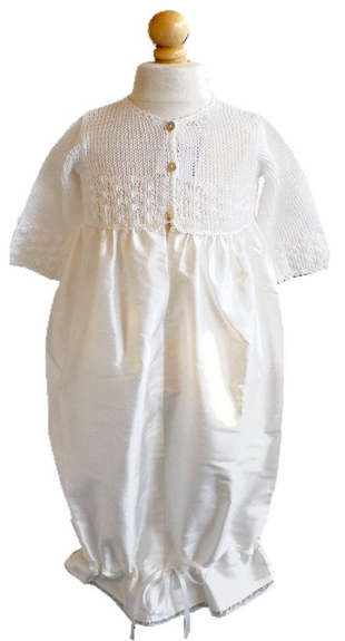 Baby *Take Me Home*-Layette Hand Made -white -USA -