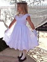 Bella Designs Communion/Flower Girl-Cotton,lace and Chiffon
