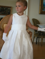 Bella Designs-Communion Dress -Silk  Pleated  Dress