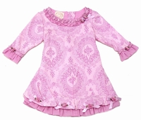 Biscotti Adagio Toile Dress with Rosettes and Bows - Size 9m - left only!