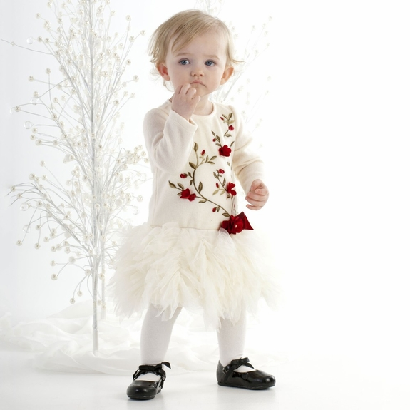 Biscotti Baby-Baroque Beauty Ivory Dress