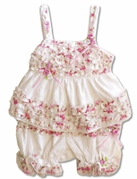 Biscotti Baby-* Eyelet Rose*  2PC Top & Bloomer