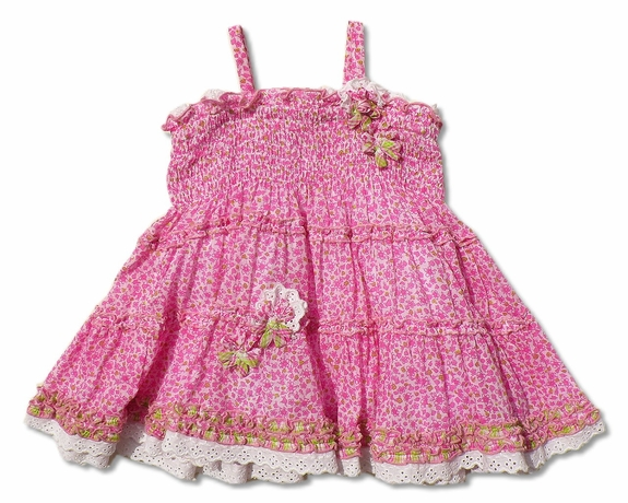 Biscotti Baby- *Field of Flowers* Dress-Size Sold Out