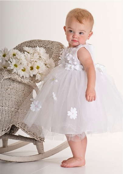 Biscotti *Crazy For Daisies* - Wedding White Ballerina Dress Size 3m