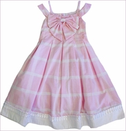 Biscotti Dress *Pretty In Plaid* Pink Dress with Bow Detail- Size 5 Left Only!