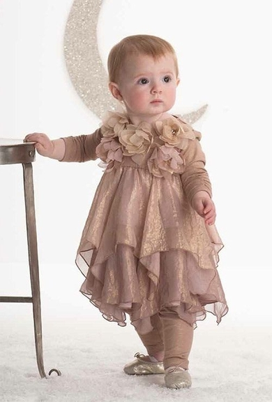 Biscotti Dress-*Shimmering Rose* Size 4t only