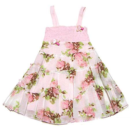 Biscotti Dress-Pink Roses