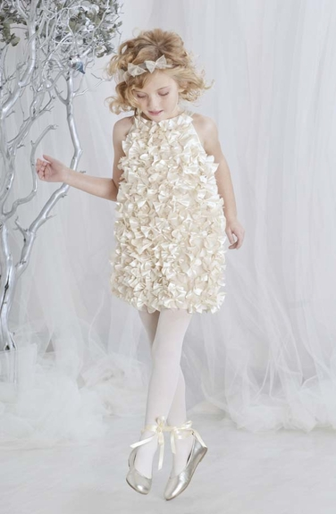Biscotti Dresses *Champagne Petals* -Sizes 6x-7