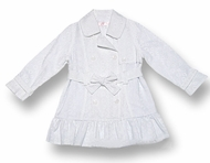 Biscotti Dresses  *Eyelet Spring Trench Coat* Size 2-4 &5 Left only!