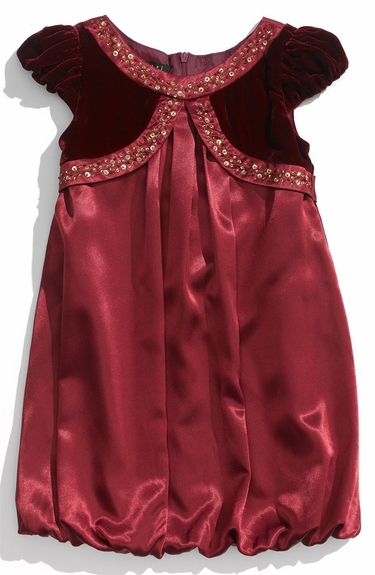 Biscotti Dresses *Florentine Gold* Burgundy Satin & Velvet Dress