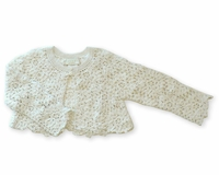 Biscotti Dresses- Girls Sweet Crochet Sweater Boleros - Ivory - Sizes 4 & 5 Left Only!