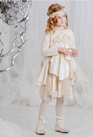 Biscotti Dresses *Glimmer in Gold* Embellished Ivory -Sizes 18m
